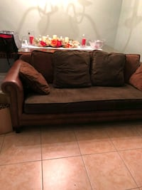 brown fabric 2-seat sofa Cypress, 77429
