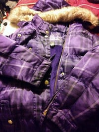 purple and white zip-up bubble jacket Grand Rapids, 49548
