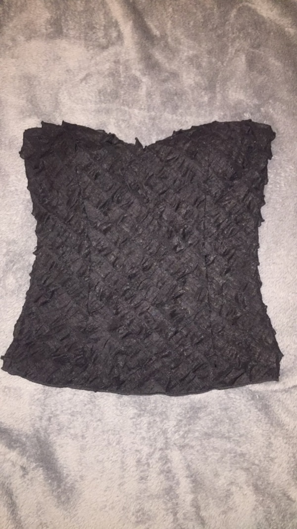 aa1d8cd066bd Used women's black lace crop top for sale in Denver - letgo
