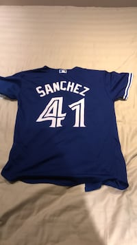 Brand new authentic youth medium 10/12 Aaron Sanchez jersey Burlington, L7M