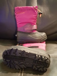 pair of toddler's pink-and-grey Columbia duck boots Lakefield, K0L 2H0