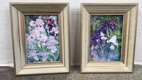 two brown wooden framed painting of flowers Montréal, H2P