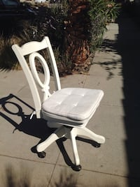 white wooden armless rolling chair- pottery barn. I have two identical ones