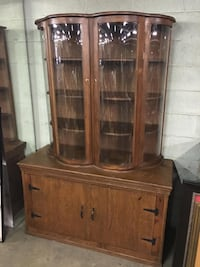 Eye-Catching 2-Piece Bowfront China Cabinet - REDUCED