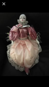 Porcelain Pierriot doll with music box Vaughan, L6A 2S1
