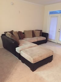 black and brown sectional couch