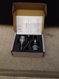 Two grey LED light bulbs H7