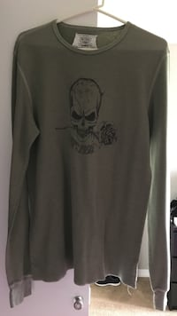 Olive w skull and rose long sleeve thermal Springfield, 22153