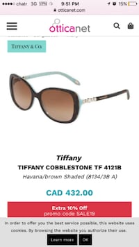 Tiffany & Co Sunglasses Vancouver