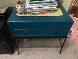 Teal nightstand or side table