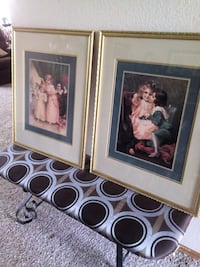 2 Beautiful Framed Pictures of Children Norman