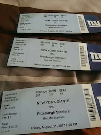 Pre season game tickets for $150.00 3 game tickets