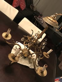 Antique Chandelier in brass in excellent condition I have 2 of them  Mont-Royal, H4P 1B2