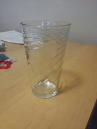6 clear drinking glass