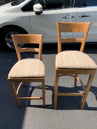 2 Different Height Bar Stools - Crate and Barrel Cushion included Aldie, 20105