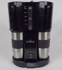 Gevalia Automatic Coffee Maker with 2 Stainless Steel Travel Mugs