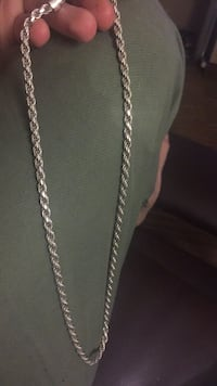Chronograph chain necklace Sterling, 20166