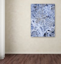 "DC Area Map Wall Art - Michael Tompsett 35"" x 47"" Fairfax, 22030"