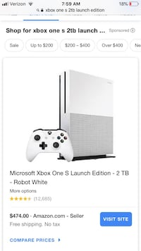 White xbox one console with controller screenshot Springfield, 97478