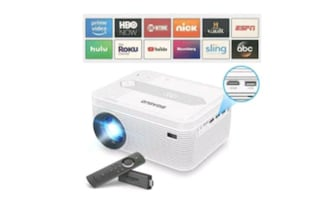 720P Bluetooth Projector w/Built-in DVD Player and Tripod NEW ½ PRICE