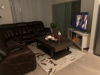 Reclining sofa with USB ports and coffee table. Charlotte, 28205