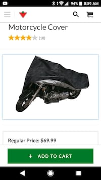 Premium motorcycle cover  Cambridge, N1R