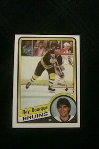 1984 TOPPS RAY BOURQUE HOCKEY CARD BOSTON BRUINS EXCELLENT CONDITION