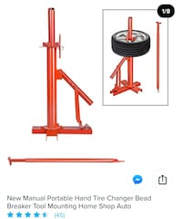 New Manual Portable Hand Tire Changer Bead Breaker Tool Mounting.