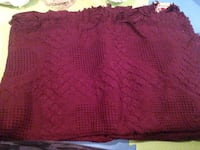 Burgundy red heart throw blanket home decor great for Christmas! St Catharines, L2R 4W4