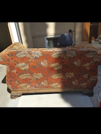 Red and brown floral ottoman Sacramento, 95817