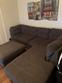 Sectional couch with ottoman Norfolk, 23503