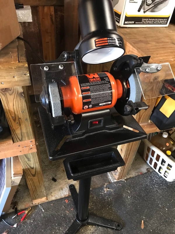 Awesome Wen 6 Inch Bench Grinder With Stand Like New Machost Co Dining Chair Design Ideas Machostcouk