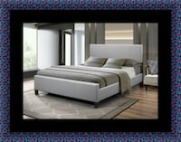 Grey platform bed with mattress all size Bowie, 20716