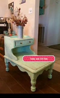 Shabby chic wood side table, mint Apple Valley, 92308
