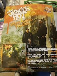 Jungle rot autographed promo poster