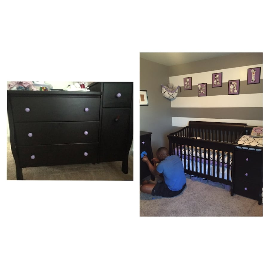 Crib with Matching Dresser (Knobs Interchangeable)