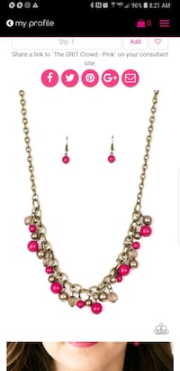 gold and red gemstone necklace 59 km
