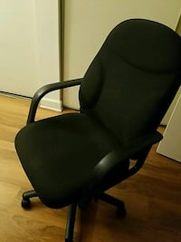 black leather office rolling armchair Alexandria, 22304