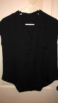 Black button-up blouse with pocket  Indio, 92201