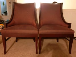 Pair of office chairs.