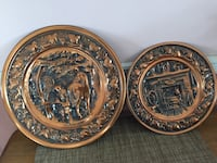 Vintage Copper mid century wall hangings
