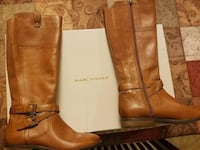brown leather side-zip 2-buckled riding boots Gibsonton, 33534