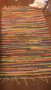 Well made colorful throw rug.new haven