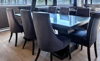 Black wooden dining table 8 seater  Montreal, H2N 1E4
