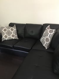 Couch sectional vegan leather