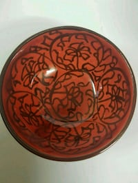 round red and white ceramic plate Oakville, L6H