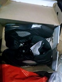 pair of black Air Jordan 5's in box Gaithersburg, 20879