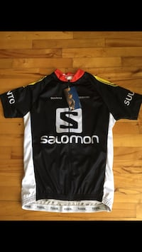 black and white Salomon jersey shirt