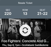 Foo Fighters Tickets Medicine Hat, T1A 5Y5