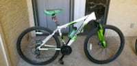 white and green hardtail mountain bike Tempe, 85281